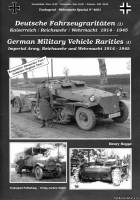 Tankograd Wehrmacht Special 4001 - German Military Vehicle Rarities (1): Imperial Army, Reichswehr and Wehrmacht 1914-1945